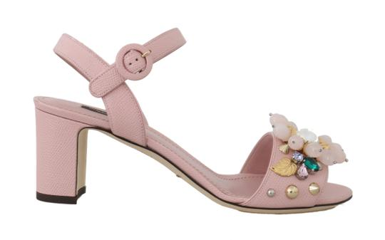 Preload https://img-static.tradesy.com/item/25822404/dolce-and-gabbana-pink-leather-crystal-studded-sandals-size-eu-39-approx-us-9-regular-m-b-0-0-540-540.jpg
