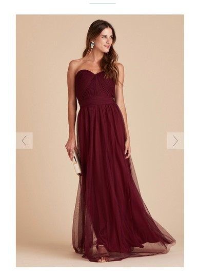 Burgundy Tulle Convertible Cabernet Formal Bridesmaid/Mob Dress Size 12 (L) Image 1