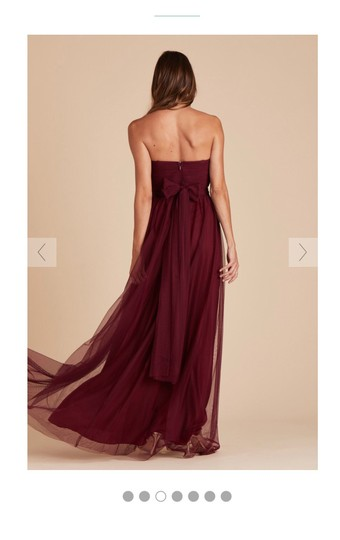 Burgundy Tulle Convertible Cabernet Formal Bridesmaid/Mob Dress Size 12 (L) Image 2