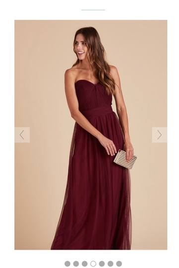 Burgundy Tulle Convertible Cabernet Formal Bridesmaid/Mob Dress Size 12 (L) Image 3