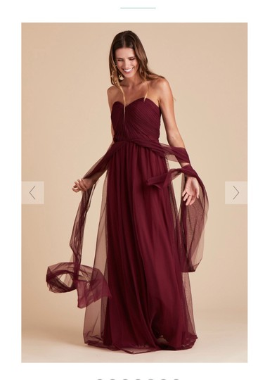 Burgundy Tulle Convertible Cabernet Formal Bridesmaid/Mob Dress Size 12 (L) Image 4