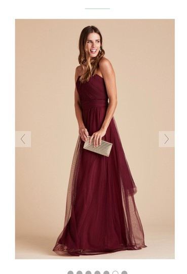 Burgundy Tulle Convertible Cabernet Formal Bridesmaid/Mob Dress Size 12 (L) Image 5