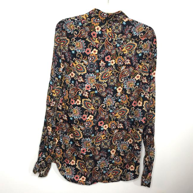 Zara Button Down Shirt Multi-Colored Image 2