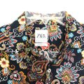 Zara Button Down Shirt Multi-Colored Image 3