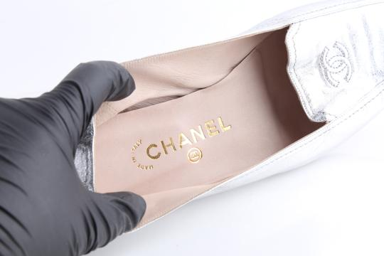 Chanel Silver Flats Image 8