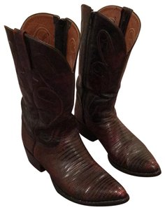 Lucchese dark wine/brown Boots