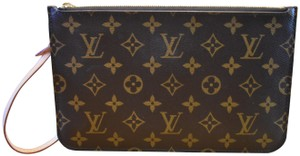 Louis Vuitton Lv Pochette Monogram Mono Yellow Interior Wristlet