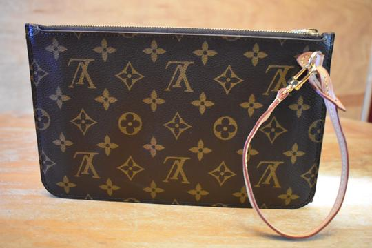 Louis Vuitton Lv Pochette Monogram Mono Yellow Interior Wristlet Image 1