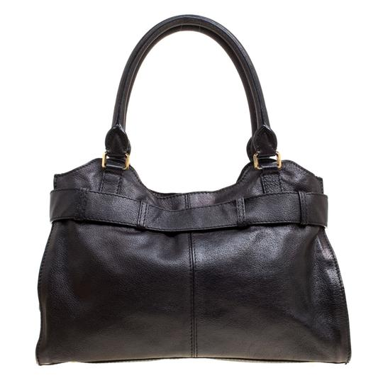 Burberry Leather Tote in Black Image 3