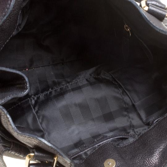 Burberry Leather Tote in Black Image 6