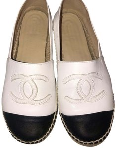 Chanel Black and White Flats