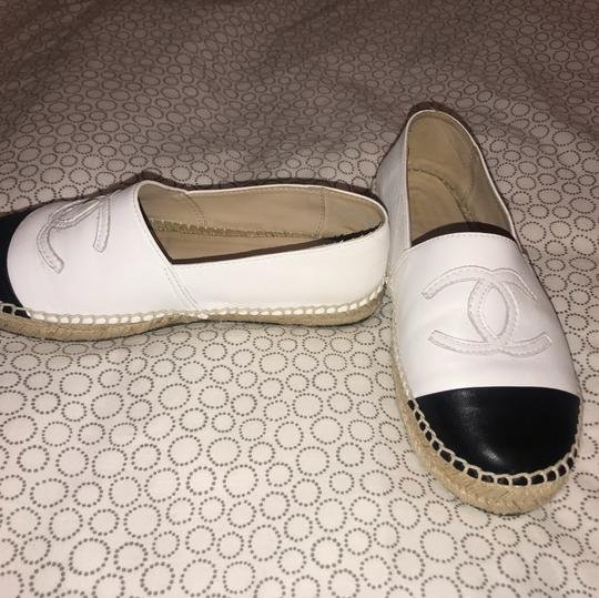 Chanel Black and White Flats Image 3