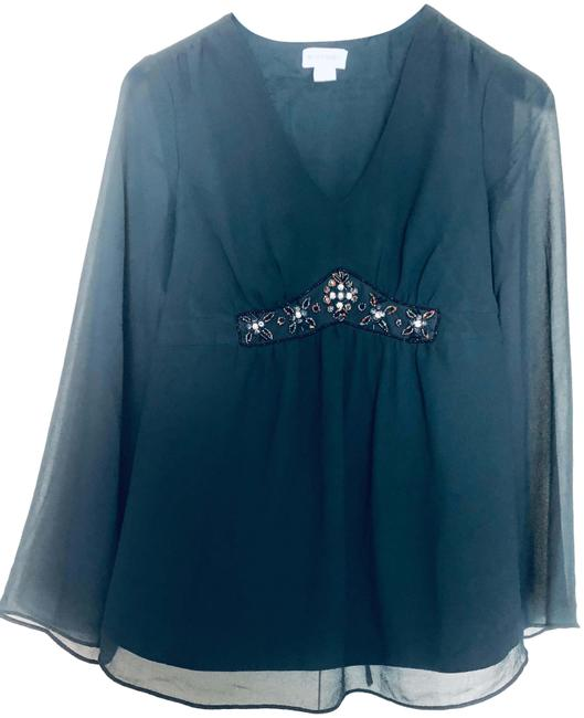 Item - Green Tie Back Maternity Top Size 8 (M)