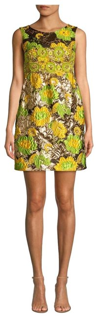 Item - Gold Green Yellow 301 Lime Multi Spring 2019 Short Formal Dress Size 6 (S)