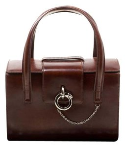Cartier Patent Leather Satchel in Brown