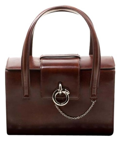 Preload https://img-static.tradesy.com/item/25822551/cartier-box-panthere-brown-patent-leather-satchel-0-1-540-540.jpg