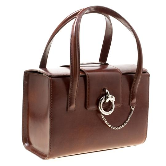 Cartier Patent Leather Satchel in Brown Image 5