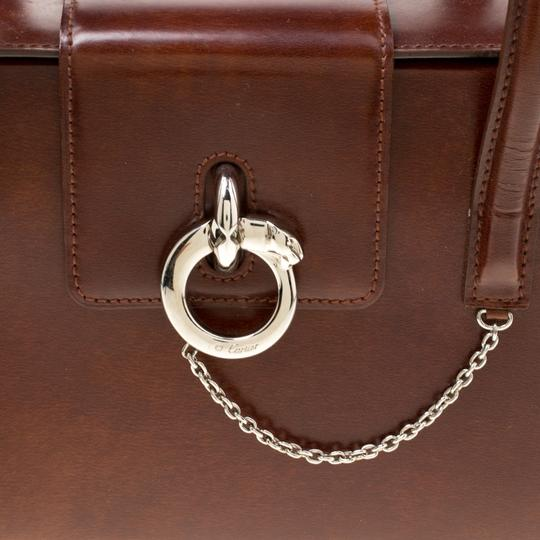 Cartier Patent Leather Satchel in Brown Image 7