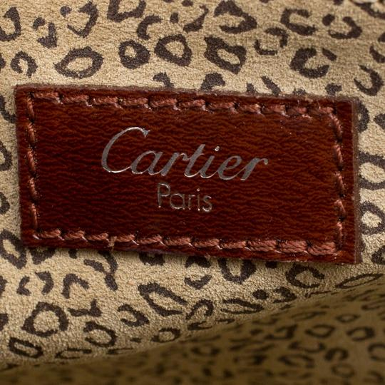 Cartier Patent Leather Satchel in Brown Image 8
