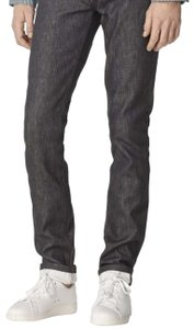 A.P.C. Denim Two-tone Fitted Cotton Straight Leg Jeans-Medium Wash
