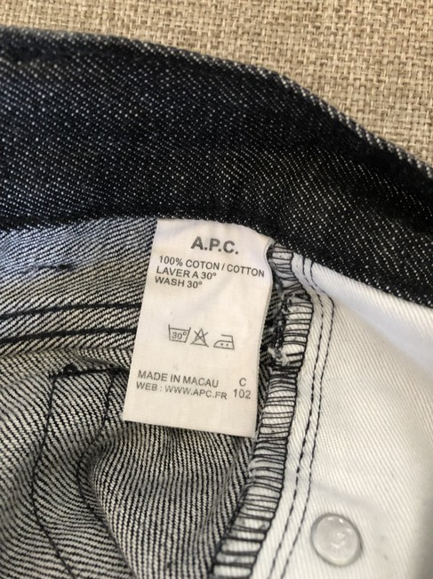 A.P.C. Denim Two-tone Fitted Cotton Straight Leg Jeans-Medium Wash Image 3