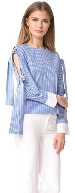 Preload https://img-static.tradesy.com/item/25822565/english-factory-striped-tie-bow-sleeve-blouse-size-12-l-0-1-650-650.jpg