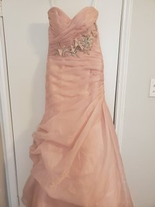 Alfred Angelo Blush Pink Disney Sleeping Beauty Feminine Wedding Dress Size 4 (S)