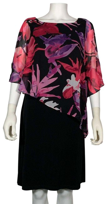 Preload https://img-static.tradesy.com/item/25822965/connected-apparel-multicolor-floral-cape-overlay-party-new-short-cocktail-dress-size-10-m-0-1-650-650.jpg