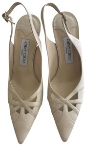 Jimmy Choo cream. off white. Pumps