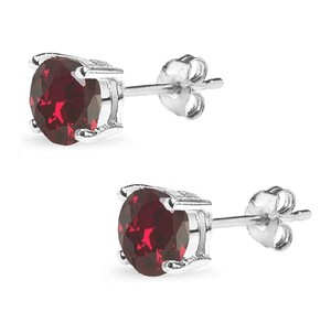 Other STIMULATED RUBY ROUND STUD 7MM EARRINGS