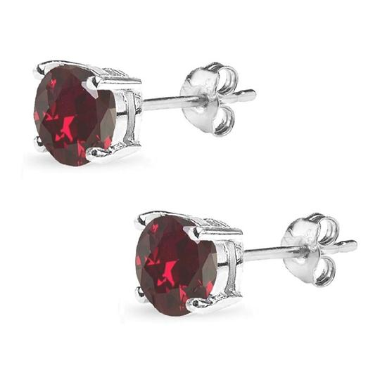 Other STIMULATED RUBY ROUND STUD 7MM EARRINGS Image 2