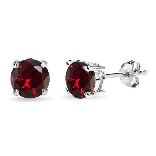 Other STIMULATED RUBY ROUND STUD 7MM EARRINGS Image 3
