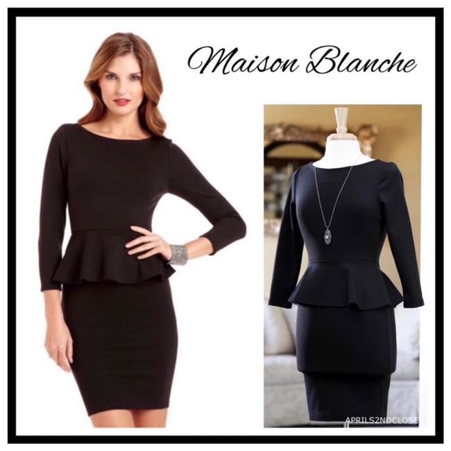 Preload https://img-static.tradesy.com/item/25823226/black-couture-peplum-lbd-mid-length-workoffice-dress-size-4-s-0-0-650-650.jpg