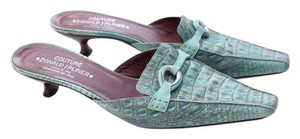 Donald J. Pliner turquoise green Mules