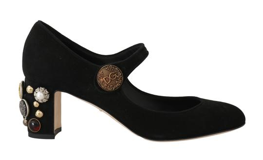 Preload https://img-static.tradesy.com/item/25823372/dolce-and-gabbana-black-suede-leather-mary-jane-pumps-size-eu-39-approx-us-9-regular-m-b-0-0-540-540.jpg