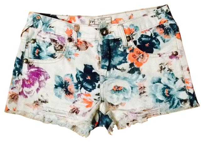 Preload https://img-static.tradesy.com/item/25823625/free-people-cream-floral-distressed-denim-shorts-size-0-xs-25-0-1-650-650.jpg