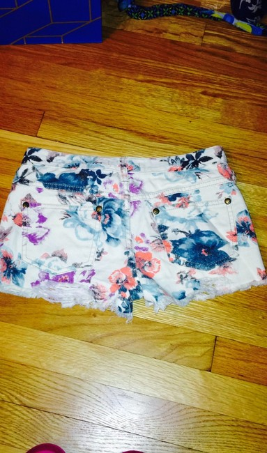 Free People Cut Off Shorts Cream Image 1