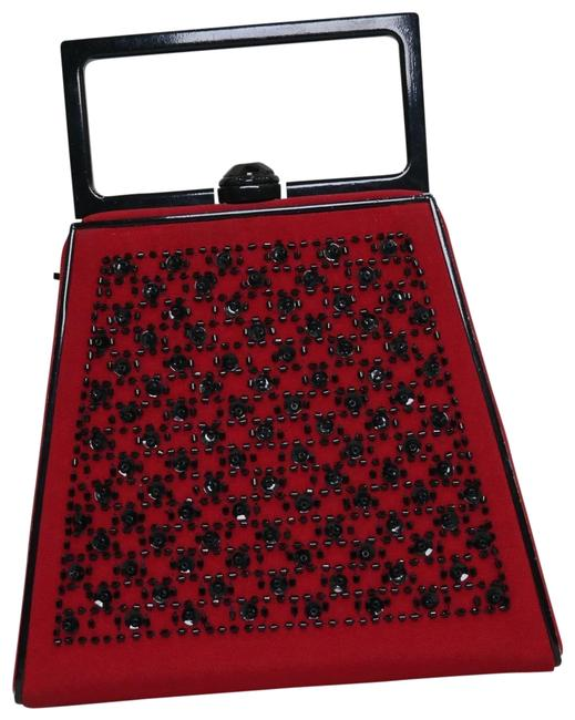 St. John Red and Black Clutch St. John Red and Black Clutch Image 1