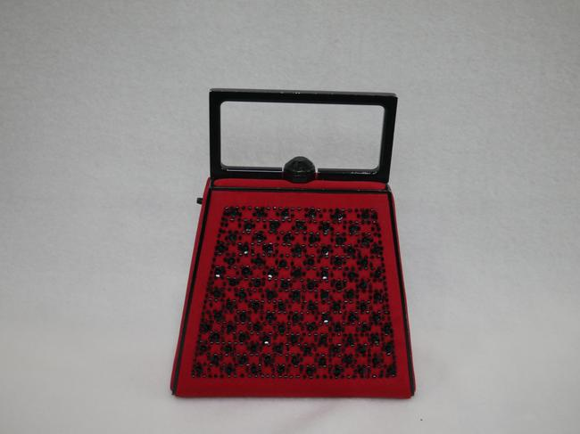 St. John Red and Black Clutch St. John Red and Black Clutch Image 2