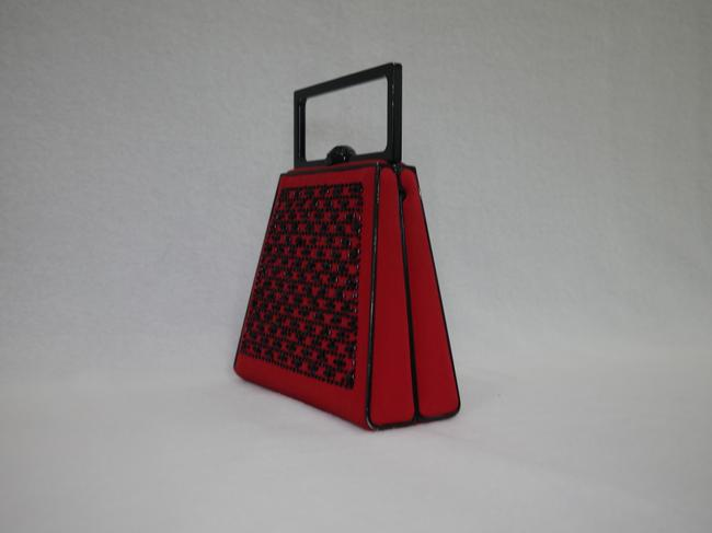 St. John Red and Black Clutch St. John Red and Black Clutch Image 11