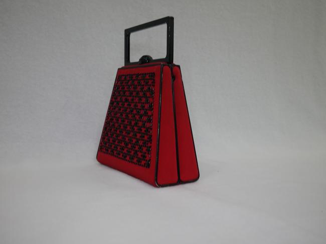 St. John Red and Black Clutch St. John Red and Black Clutch Image 4