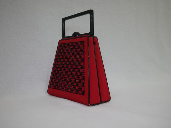 St. John Red and Black Clutch St. John Red and Black Clutch Image 5