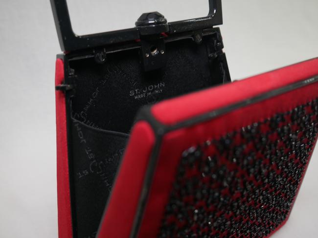 St. John Red and Black Clutch St. John Red and Black Clutch Image 6