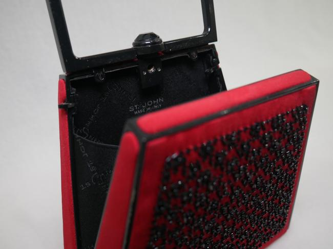 St. John Red and Black Clutch St. John Red and Black Clutch Image 9