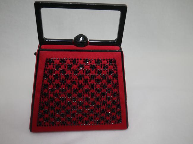 St. John Red and Black Clutch St. John Red and Black Clutch Image 10
