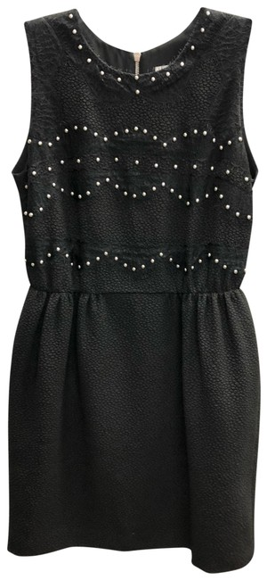 Item - Black Sleeveless Studded Short Night Out Dress Size 2 (XS)
