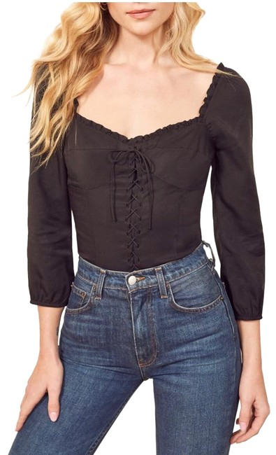 Preload https://img-static.tradesy.com/item/25823665/reformation-prose-lace-up-blouse-size-6-s-0-1-650-650.jpg