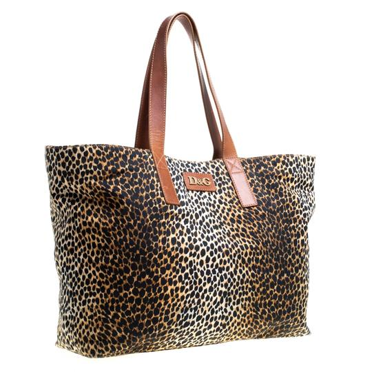 Dolce&Gabbana Canvas Tote in Brown Image 1