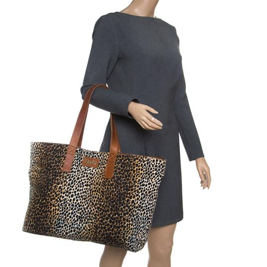 Dolce&Gabbana Canvas Tote in Brown Image 3