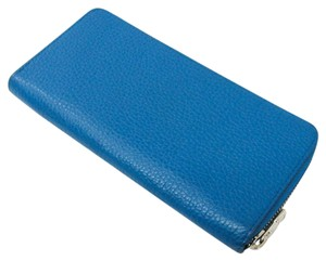 Louis Vuitton Louis Vuitton Taurillon Zippy Wallet Vertical M58411 Unisex Taurillon Leather Long Wallet (bi-fold) Blue